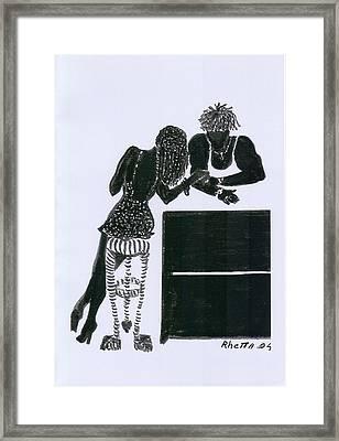 The Flirt Framed Print by Rhetta Hughes