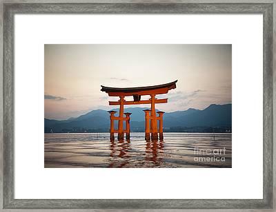 The Floating Torii Framed Print