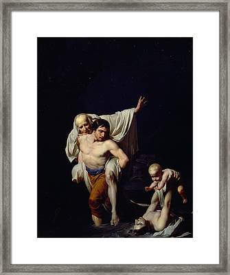 The Flood Framed Print by Jean-Baptiste Regnault