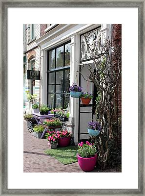 The Flower Shop Framed Print by Tia Anderson-Esguerra