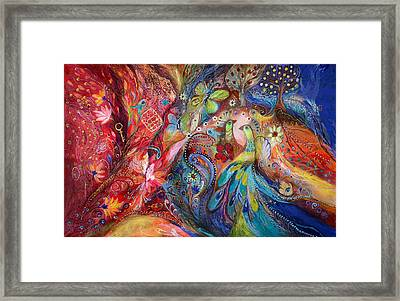 The Flowers And Butterflies Framed Print by Elena Kotliarker