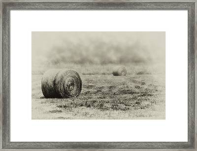 The Foggy Farmers Field Framed Print