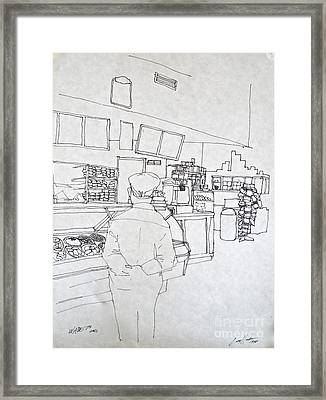 The Food Stop Framed Print