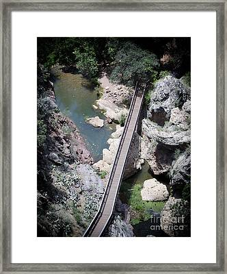 The Foot Bridge Framed Print