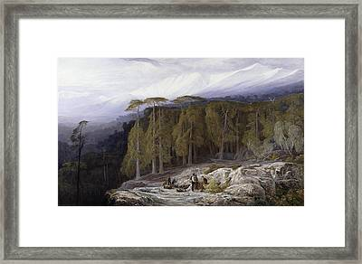 The Forest Of Valdoniello - Corsica Framed Print by Edward Lear