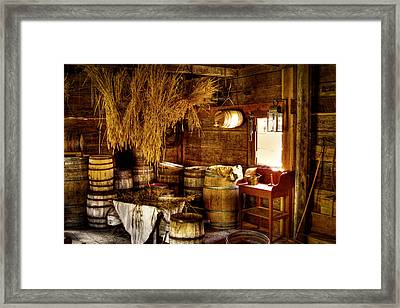 The Fort Nisqually Granary Framed Print by David Patterson