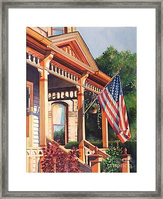 The Founders Home Framed Print by Greg and Linda Halom