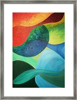 The Four Elements Framed Print by Derya  Aktas