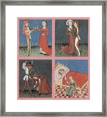 The Four Humors Framed Print