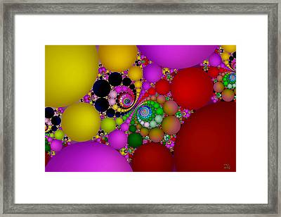 The Fractal Landscape Of Consciousness II Framed Print by Manny Lorenzo