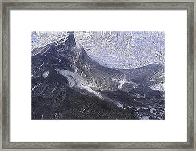 The Frank Slide Framed Print by Wayne Bonney