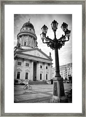 The French Cathedral In Berlin Framed Print