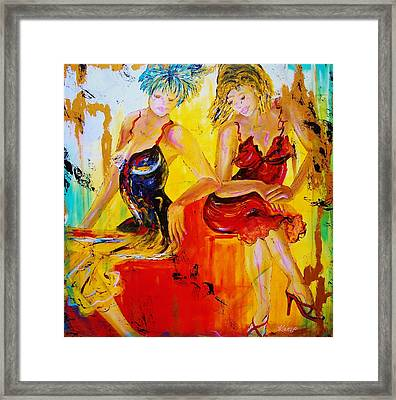 The French Conversation Framed Print by Wendy Winbeckler
