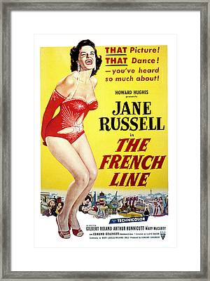 The French Line, Jane Russell, 1954 Framed Print