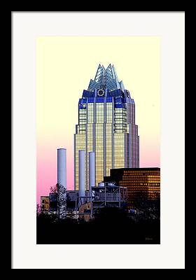 Buildings In Austin Tx Framed Prints