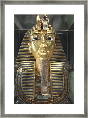 The Funeral Mask Of King Tutankhamun Framed Print by Richard Nowitz