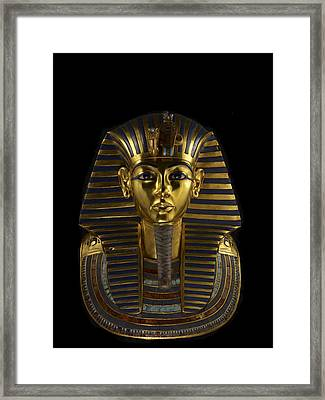 The Funerary Mask Of King Tutankhamun Framed Print by Kenneth Garrett