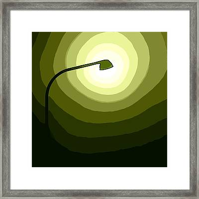 The Future Is Green Framed Print by Steve K