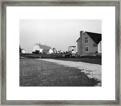 The Future Of Farms Near Chicago Framed Print by Jan W Faul