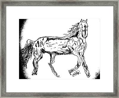 The Gallop Framed Print by Rocky Malhotra