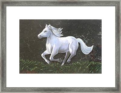 The Galloping Horse- Framed Print by Rejeena Niaz