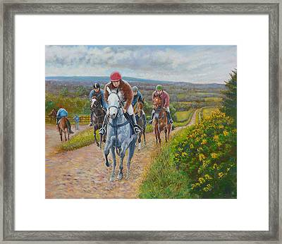 The Gallops Framed Print by Tomas OMaoldomhnaigh