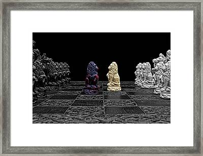 The Game Begins Framed Print by Doug Long