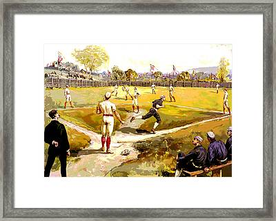 The Game Framed Print by Charles Shoup