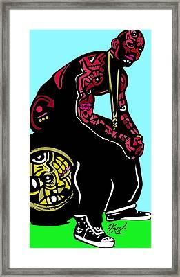 The Game Full Color Framed Print by Kamoni Khem