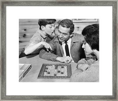 The Game Is Nirtz Framed Print by Archive Photos