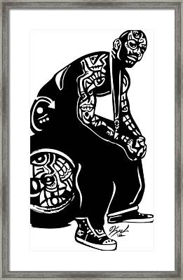 The Game Framed Print by Kamoni Khem
