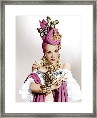 The Gangs All Here, Carmen Miranda Framed Print