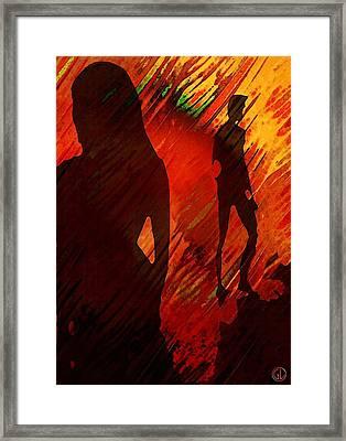 The Gap Framed Print by Gun Legler