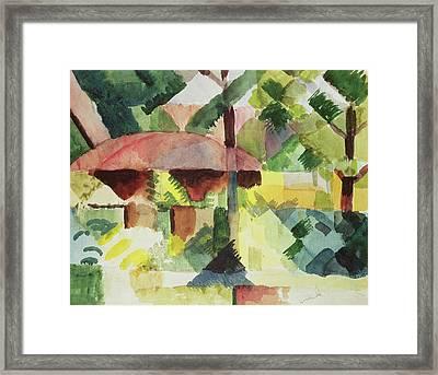 The Garden Framed Print by August Macke