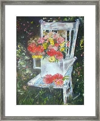 The Garden Chair Framed Print by Raymond Doward
