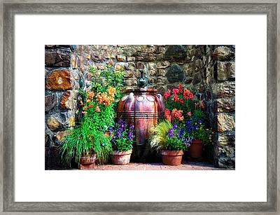 The Garden Cistern Framed Print by Bill Cannon