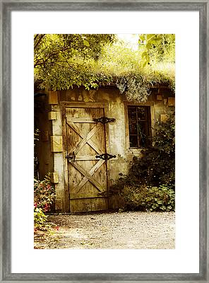 The Garden Shed Framed Print by MaryJane Armstrong