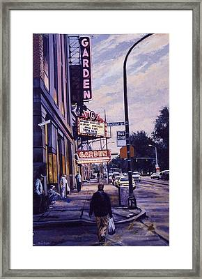 The Garden Theater Framed Print by James Guentner
