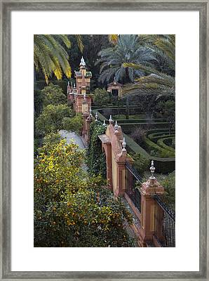 The Gardens Of The Alcazar Palace Framed Print by Krista Rossow