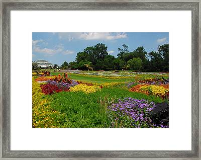 Framed Print featuring the photograph The Gardens Of The Conservatory by Lynn Bauer