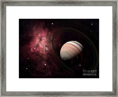 The Gas Giant Carter Orbited By Its Two Framed Print by Brian Christensen