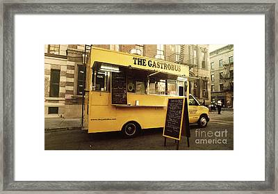 The Gastrobus Framed Print by Nina Prommer