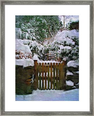 The Gate Framed Print by Amanda Moore