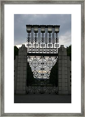 The Gate Framed Print by Nina Fosdick