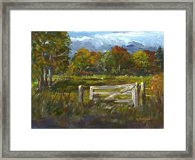 The Gate Of The Lord Framed Print