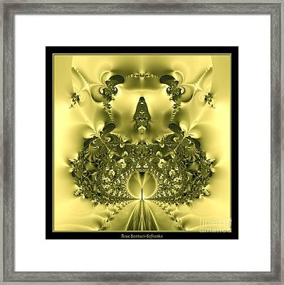The Gates Of Heaven Fractal 66 Framed Print