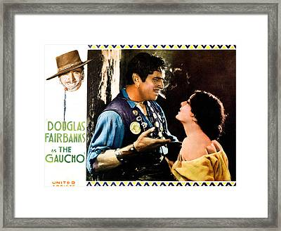 The Gaucho, Upper Left Douglas Framed Print