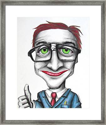 The Geek Shall Inherit The Earth Framed Print by Eric McGreevy
