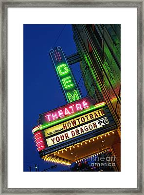 The Gem Theatre - D006611 Framed Print by Daniel Dempster