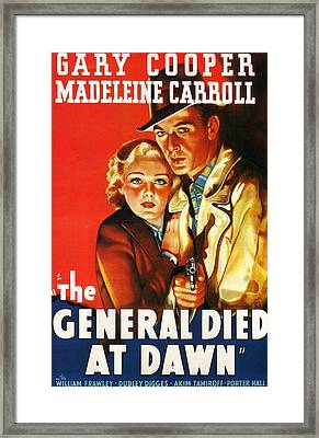 The General Died At Dawn Framed Print